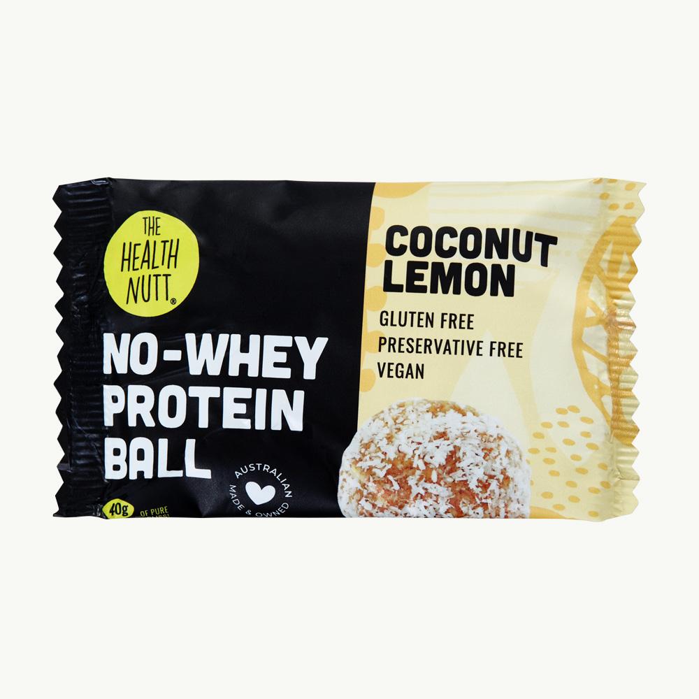 No-Whey Protein Ball Coconut Lemon