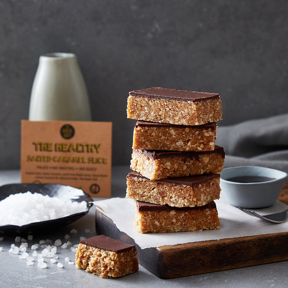 The Healthy Salted Caramel Slice